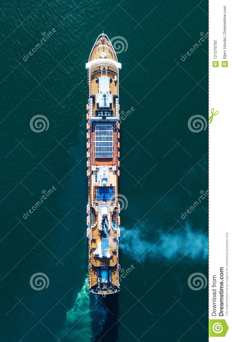 Download Aerial Photo Of A Cruise Ship Stock Photo - Image of aerial, journey: 121276792