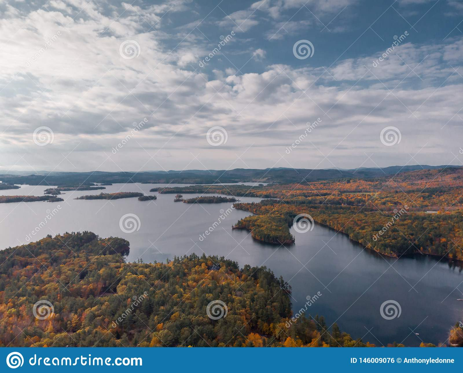 Autumn over a lake in New Hampshire