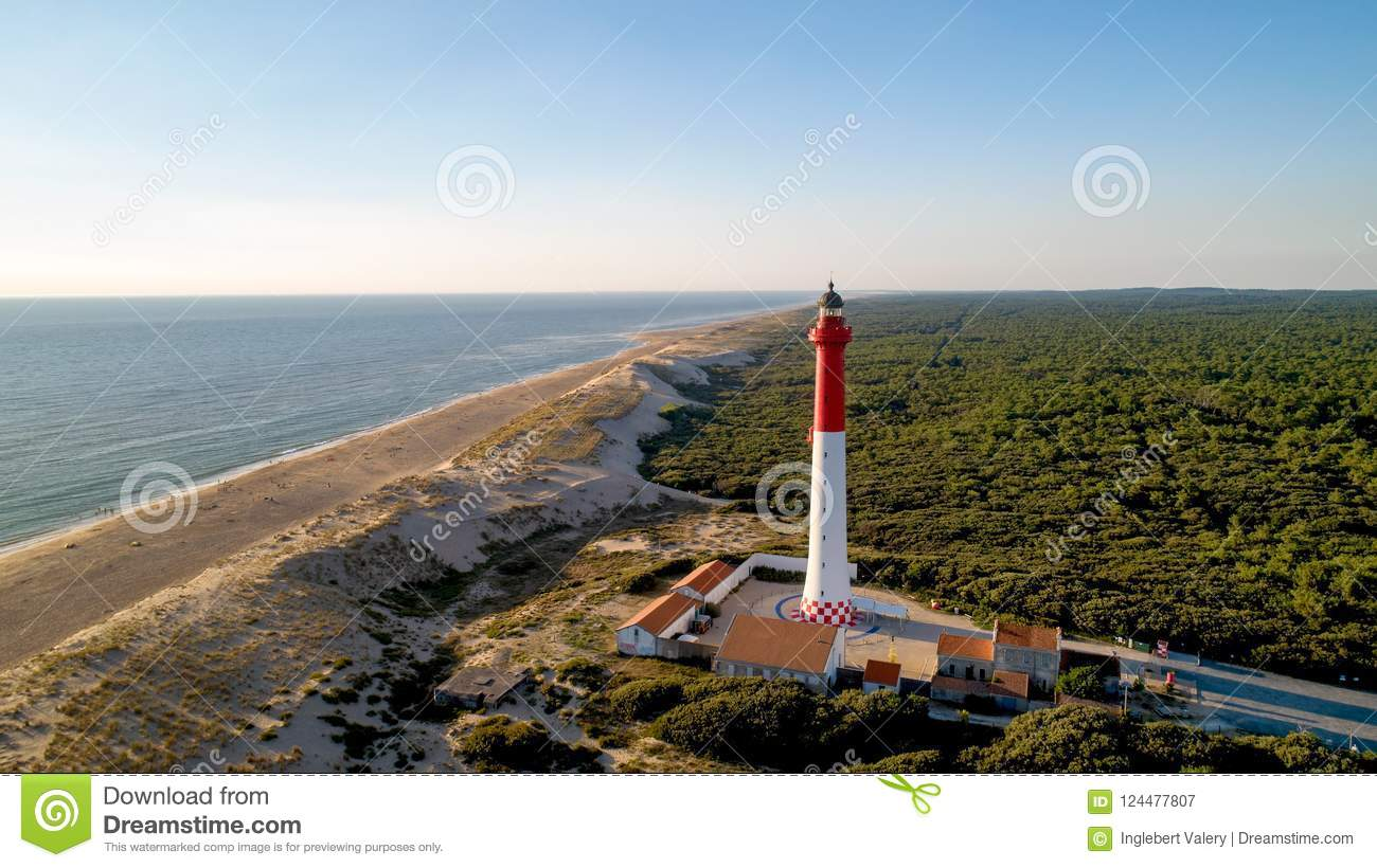 Aerial photo of lighthouse La Coubre
