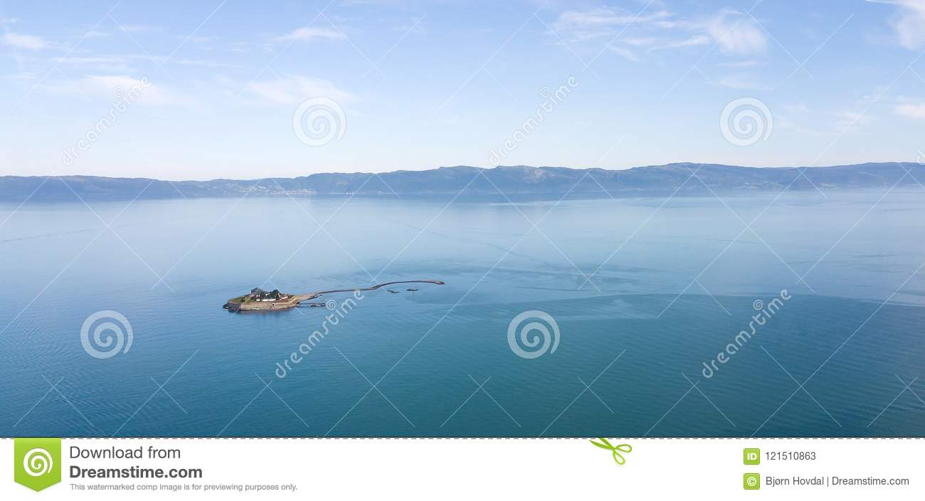 Download Aerial Photo Of Munkholmen Islet In The Trondheimsfjord. Stock Image - Image of site, prison: 121510863