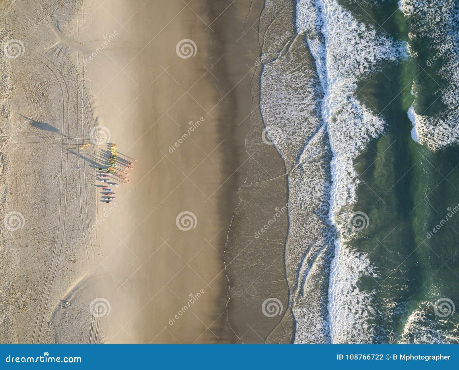miami beach on the gold coast, queensland, australia. stock