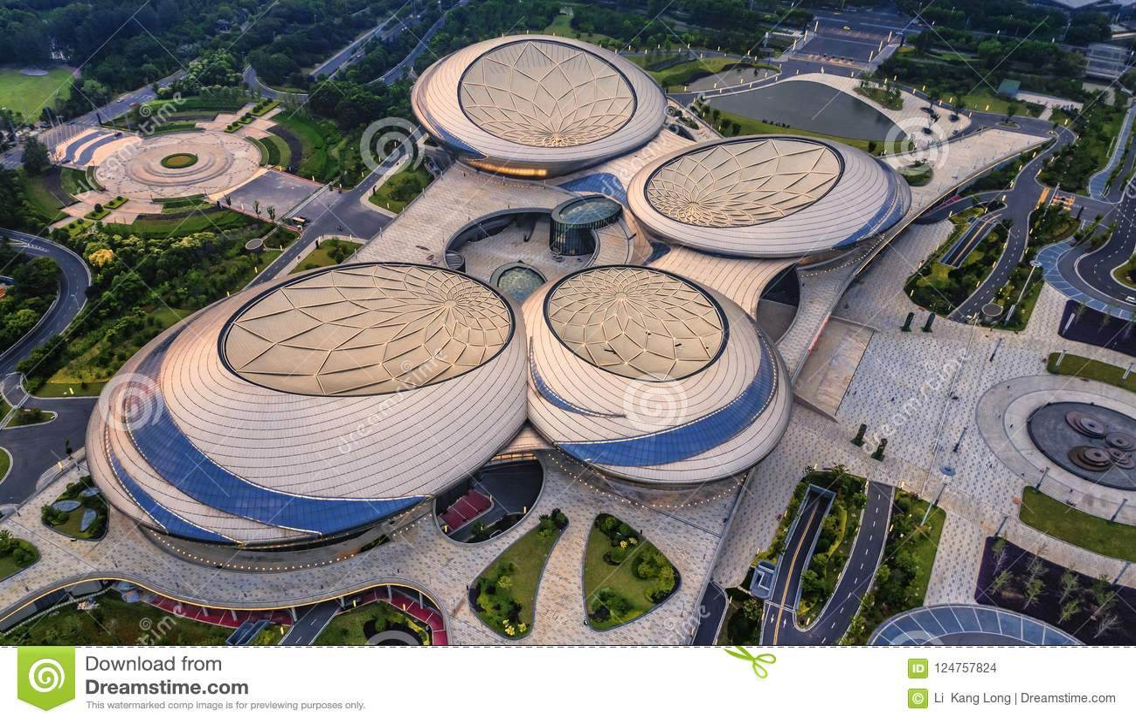 Aerial photography - Jiangsu Grand Theatre