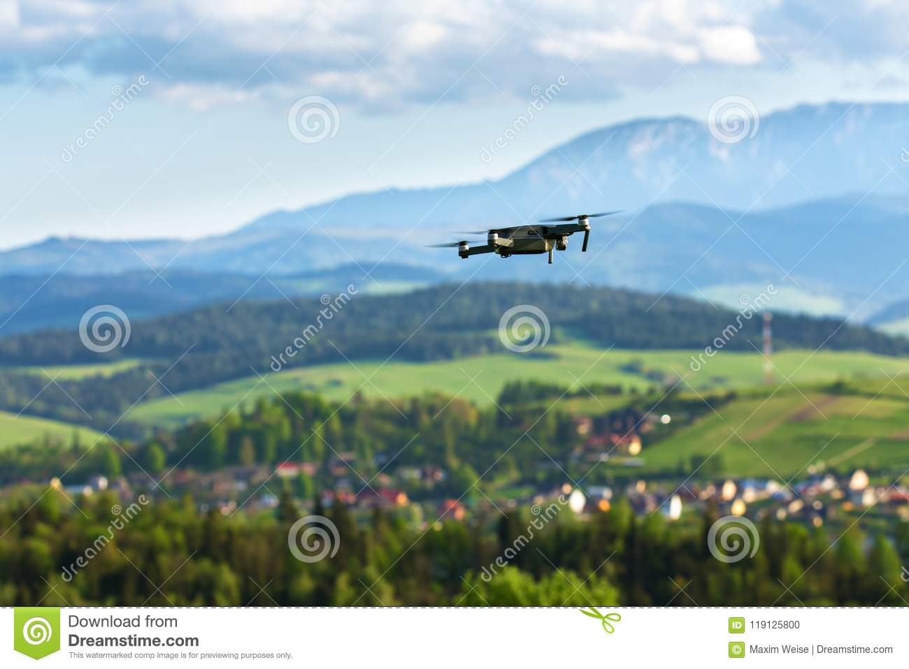 Aerial Photography And Videography  Drone Flying Over
