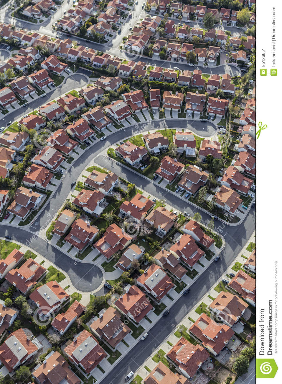 Aerial Porter Ranch California Homes Stock Photo Image - Los angeles map porter ranch