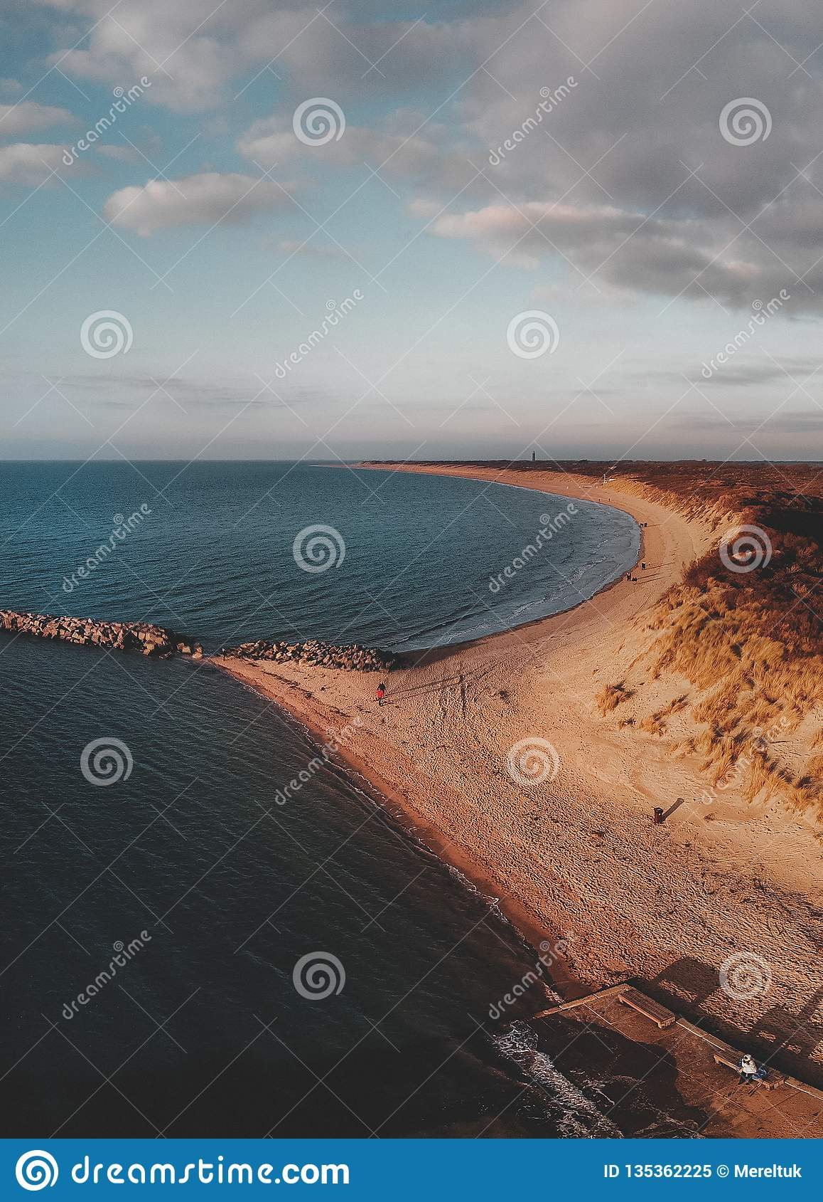 Aerial shot of Goeree-Overflakkee, The Netherlands, Brouwersdam 2019
