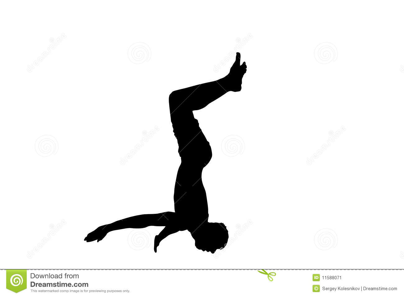 Aerial Somersault Stock Image Image 11588071