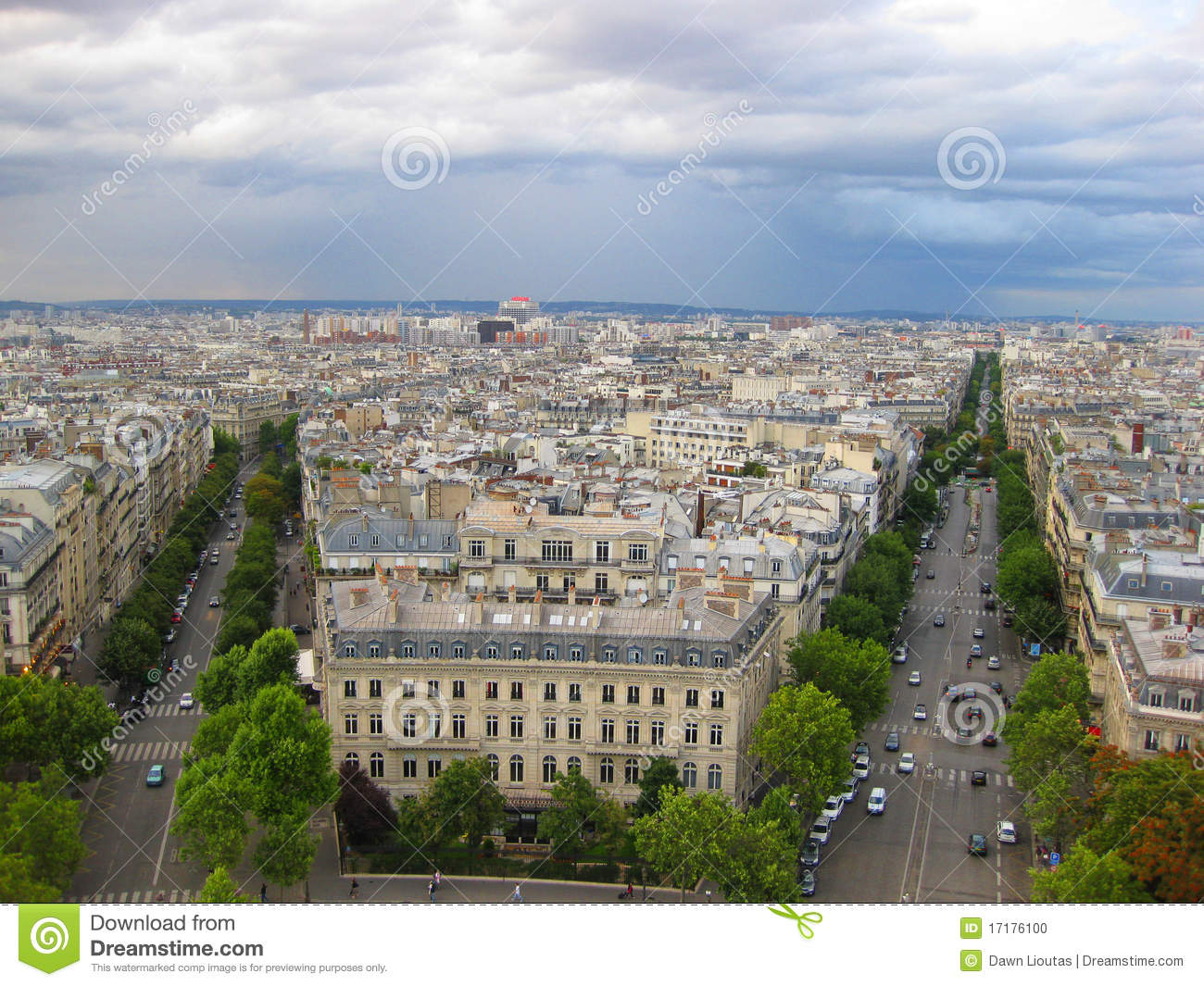 aerial street view of paris france stock photo image of houses road 17176100. Black Bedroom Furniture Sets. Home Design Ideas