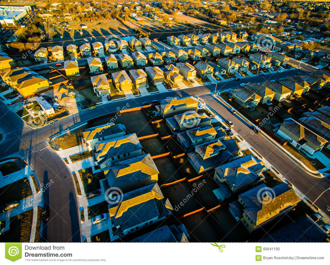 aerial all austin backyards community cut houses lines look ...