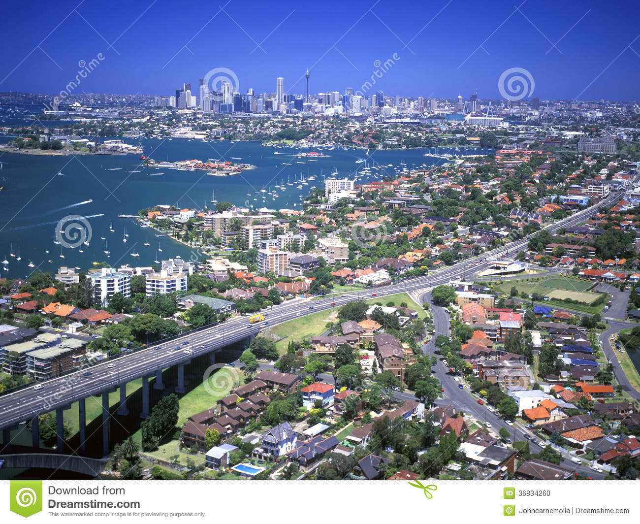 Aerial Of Sydney Stock Photo Image 36834260