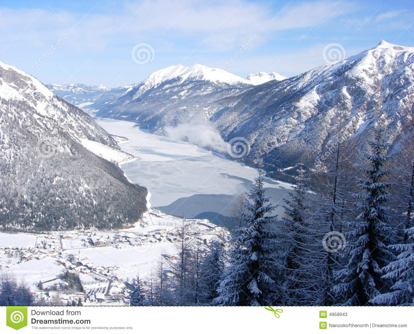 Aerial view of the Achensee, Austria