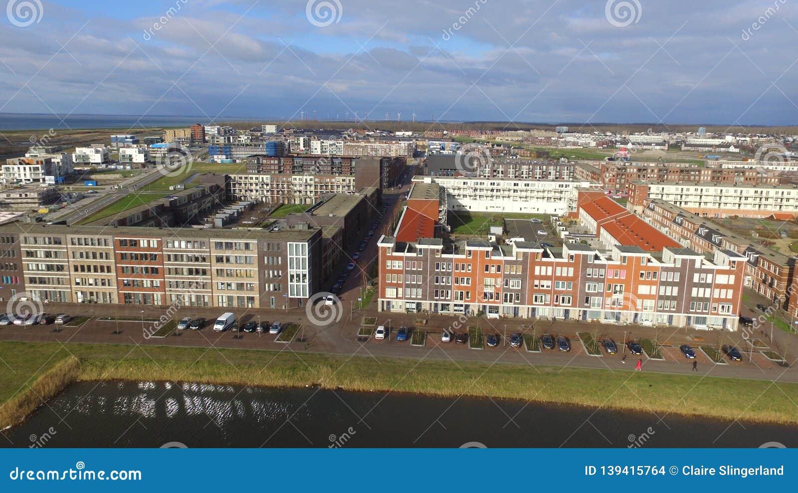 Aerial view on Almere Poort