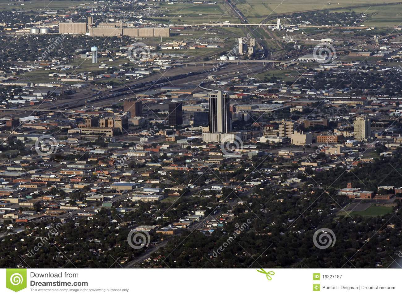 Aerial View Of Amarillo Texas Stock Image Image Of