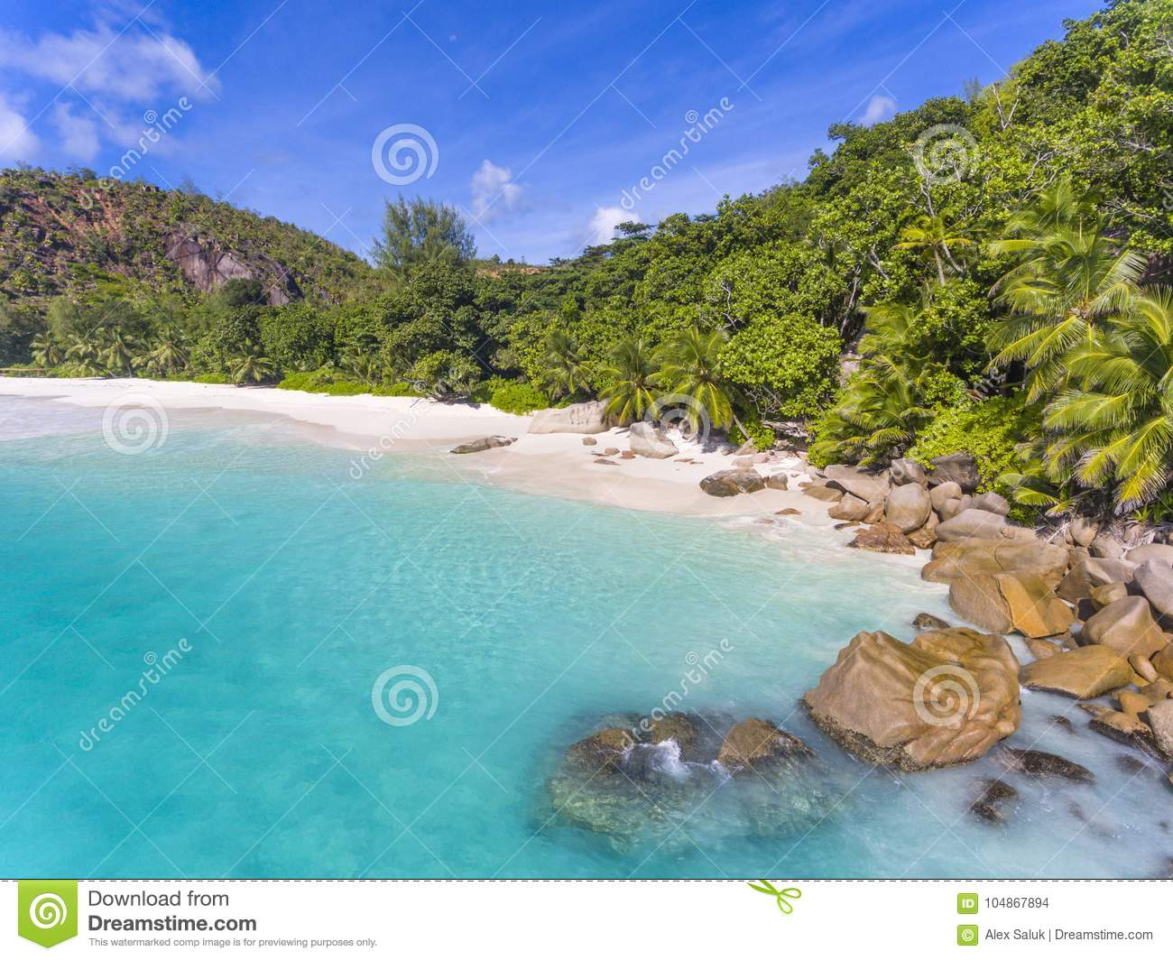 Anse Georgette Beach Seychelles Stock Photo Image Of