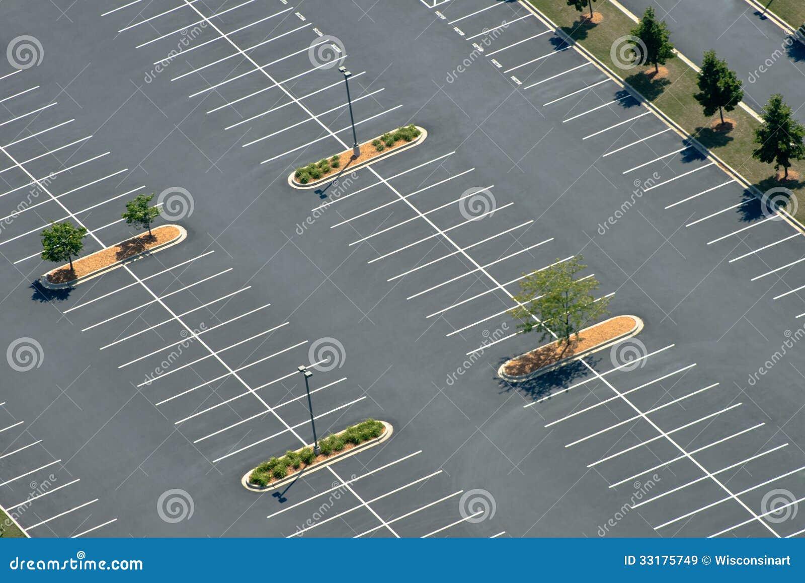 Aerial View of Asphalt Parking lot