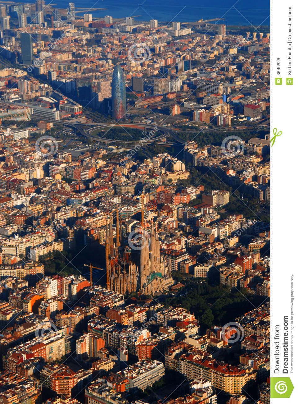 Aerial View Of Barcelona Stock Image Image Of Rooftops