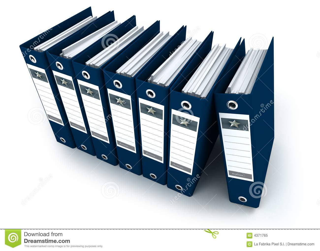 Organized Binder Clipart Binders In A Row clipart