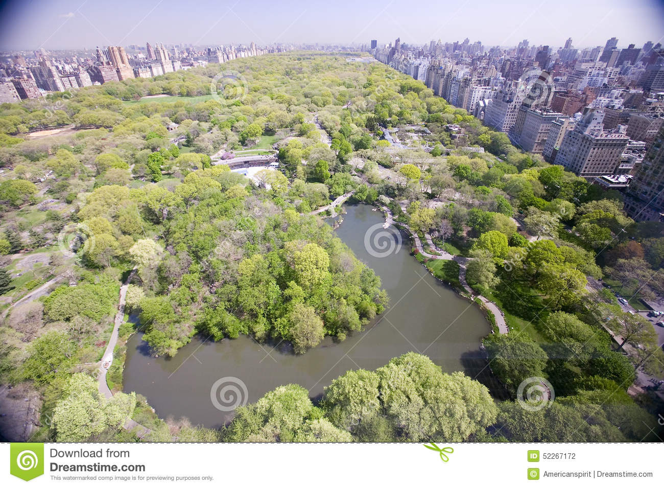 Aerial view of central park in spring near columbus circle for Columbus spring