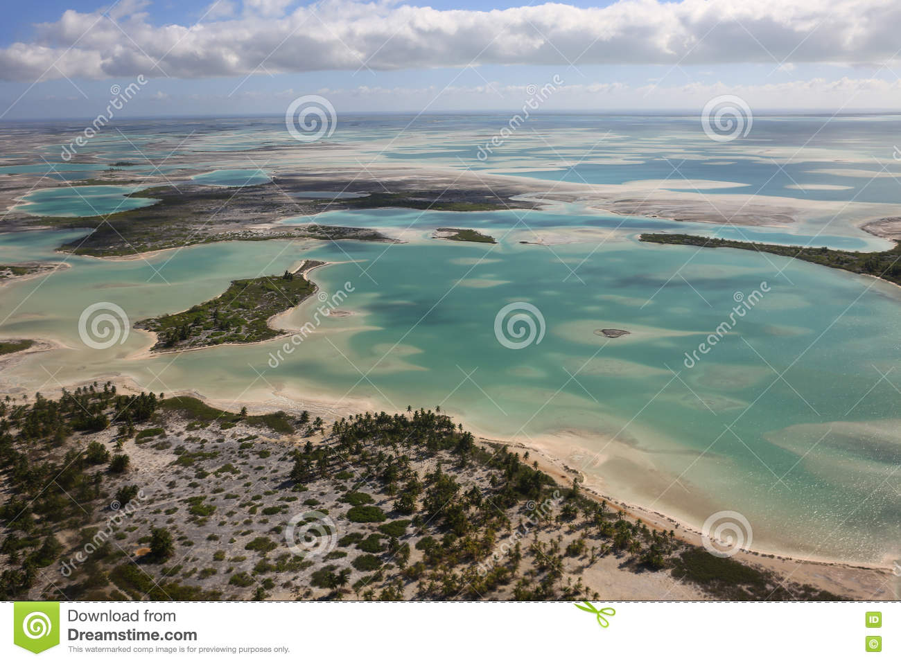 Aerial View Of Christmas (Kiritimati) Island, Kiribati Stock Image ...