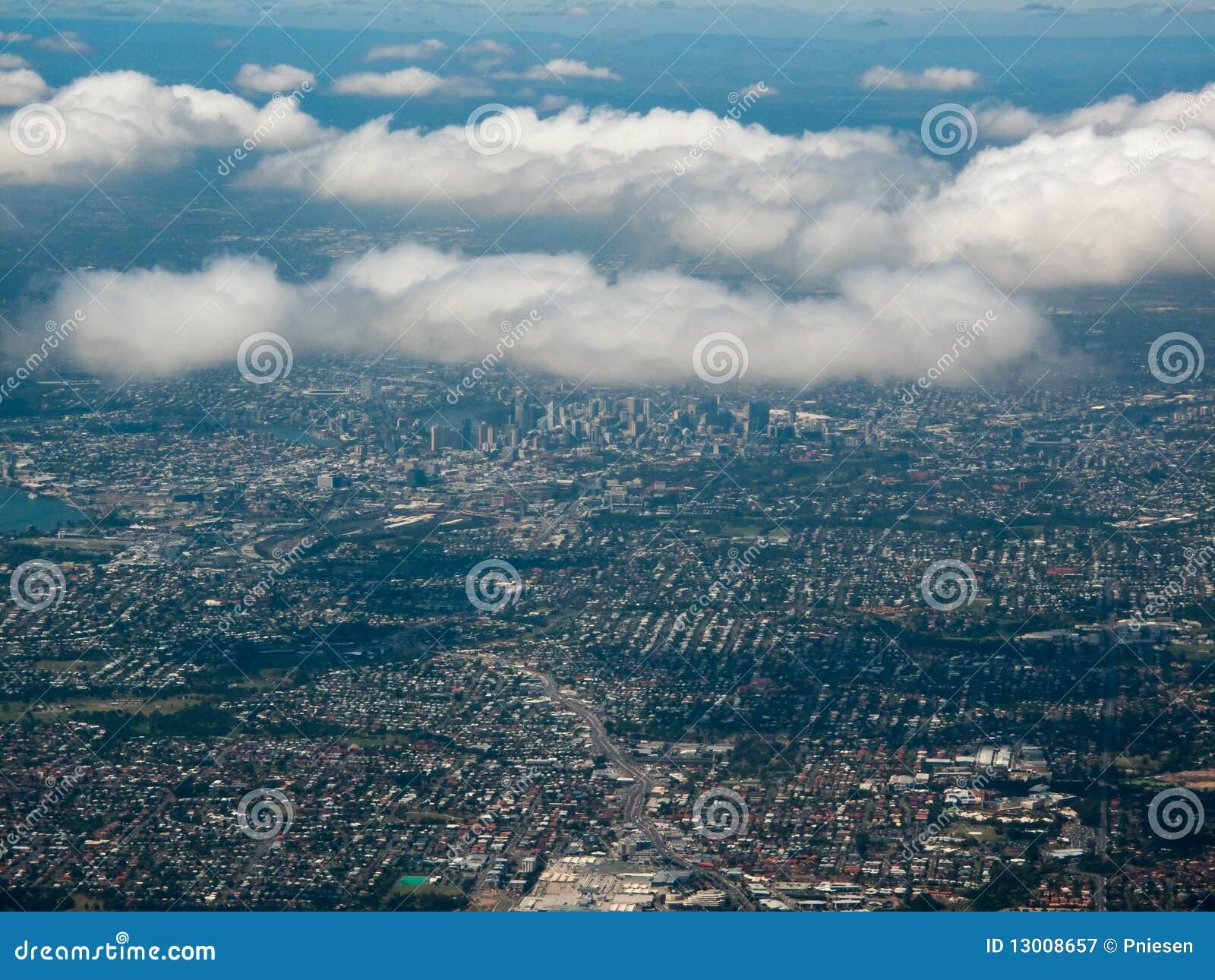 Aerial View of the City of Brisbane, Australia