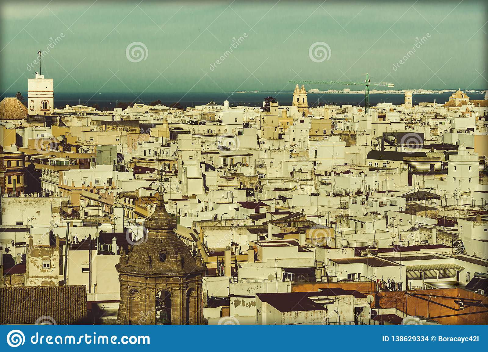 Aerial view of the city of Cadiz