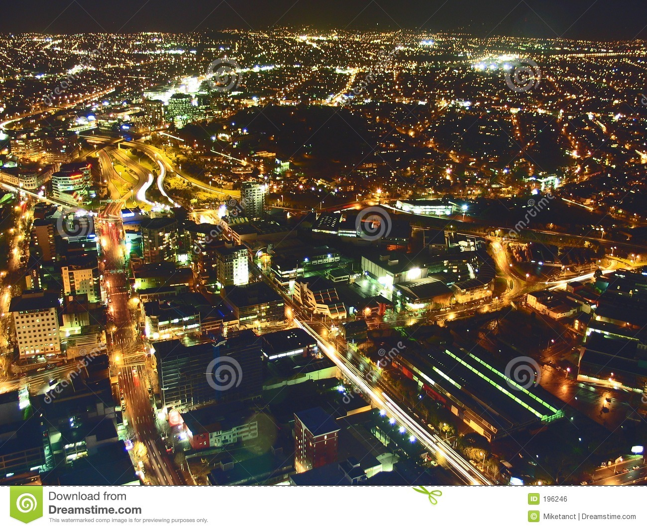 Aerial View City Lights stock photo. Image of sight, city ...