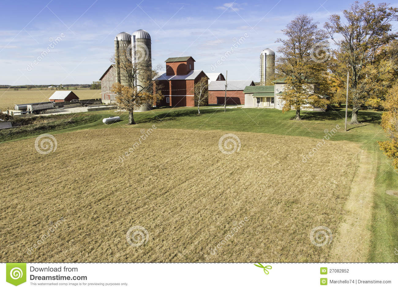 Aerial View Of The Country Farm Stock Photo Image 27082852