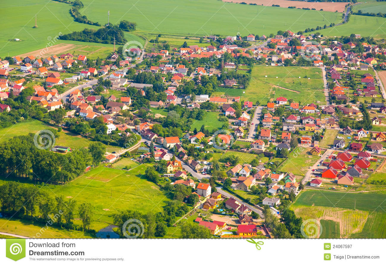 Aerial view of countryside with village stock image image 24067597 aerial view of countryside with village sciox Image collections
