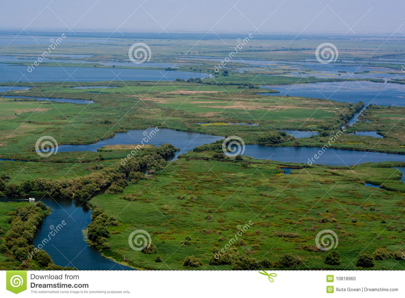 Aerial View of Danube Delta