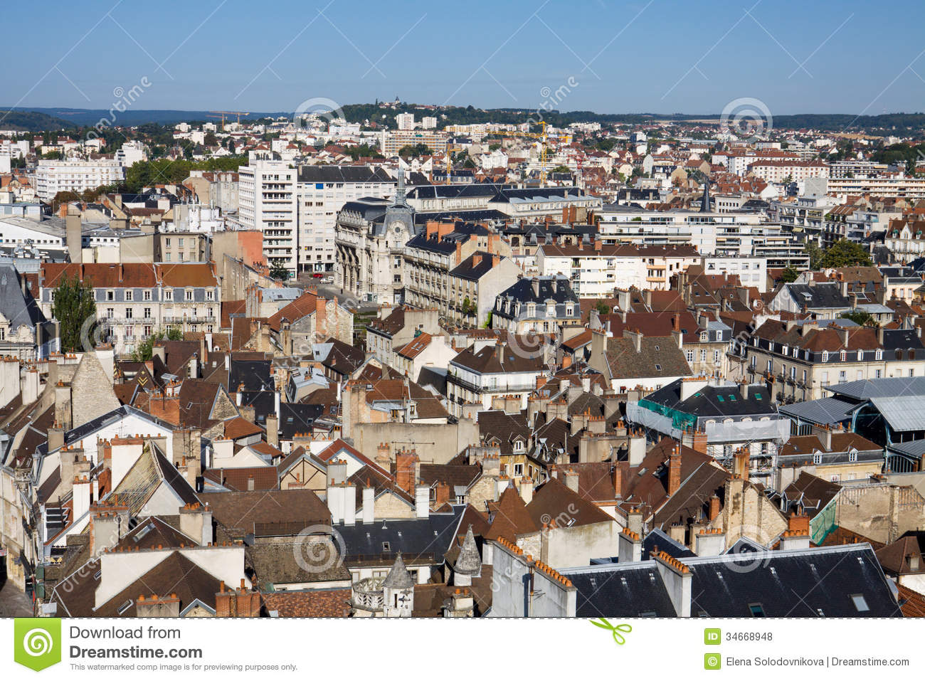 Aerial View Of Dijon City In France Royalty Free Stock Photos Image ...