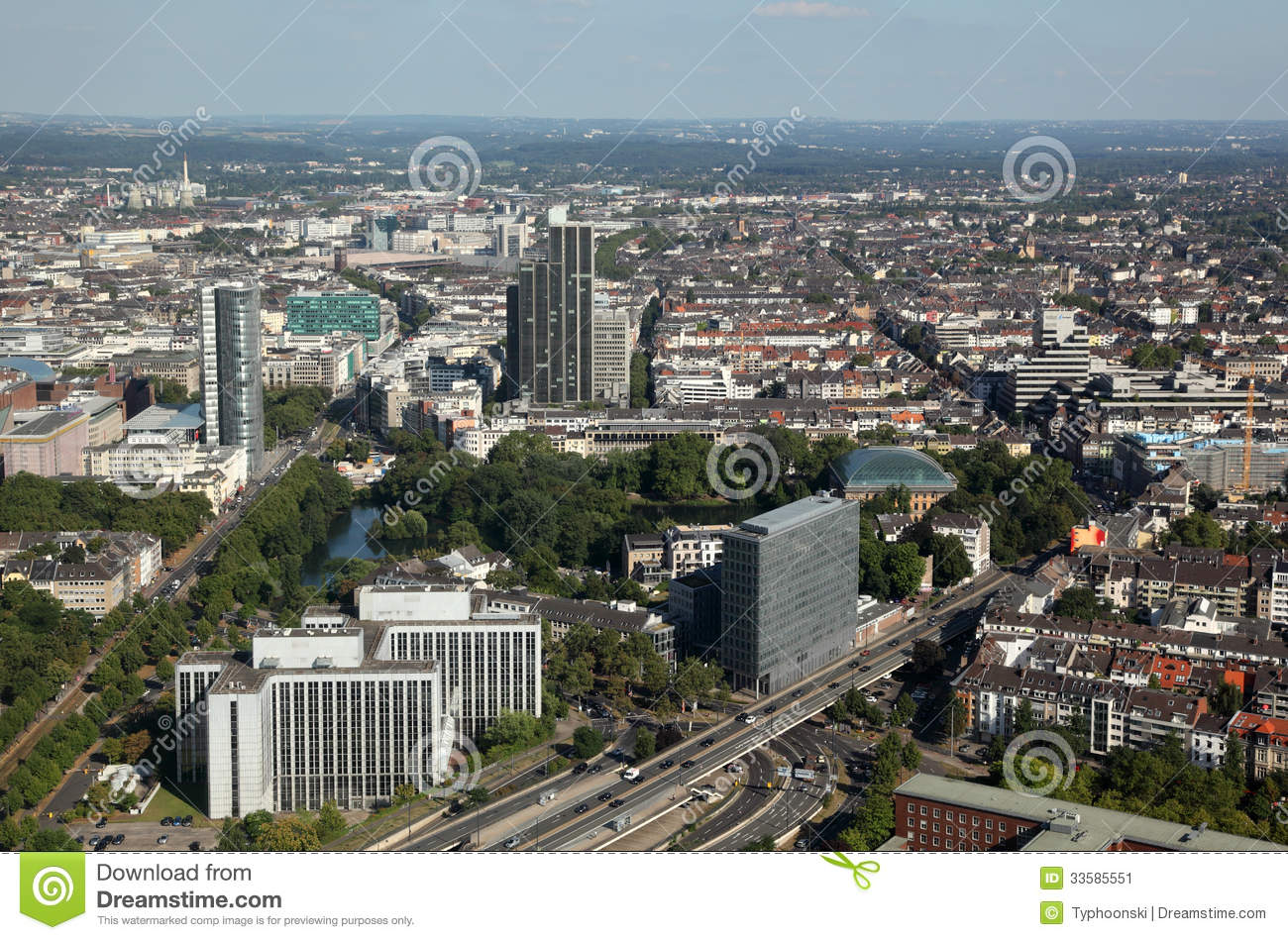 Dusseldorf Germany  City new picture : Aerial View Of Dusseldorf, Germany Stock Image Image: 33585551
