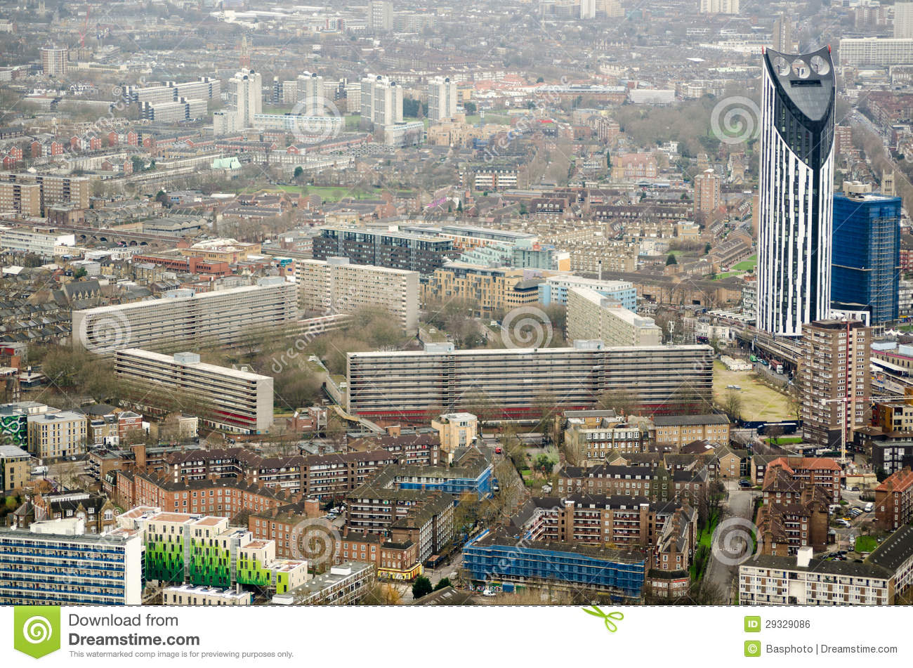 Aerial View Elephant And Castle Royalty Free Stock Image