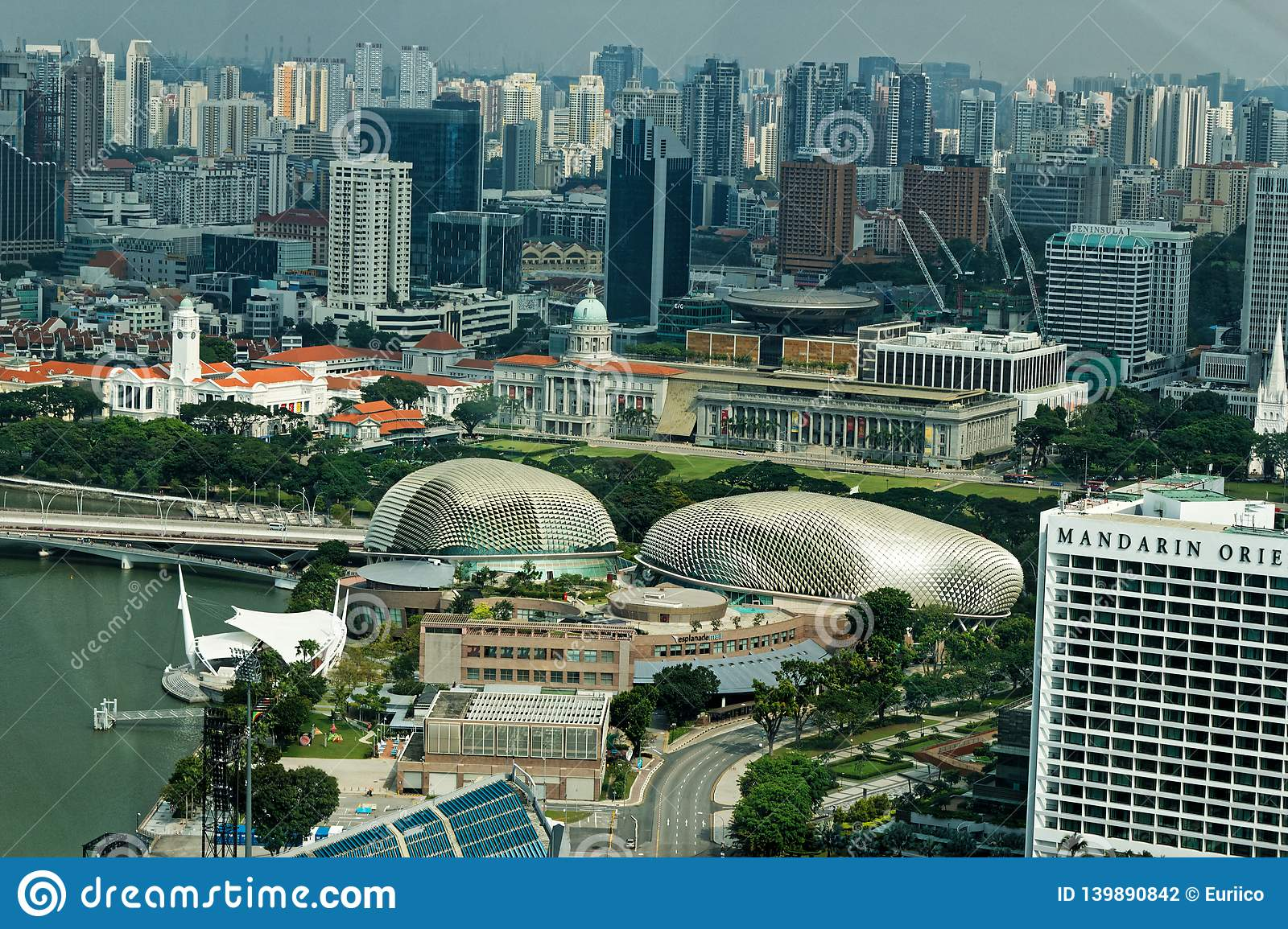 Aerial view of Esplanade – Theatres on the Bay