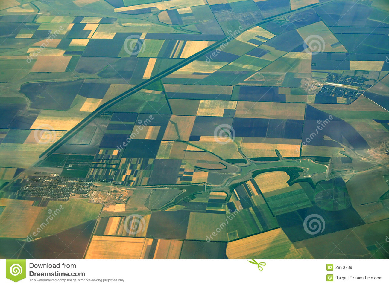 Aerial View Of Farmlands Royalty Free Stock Images - Image: 2880739