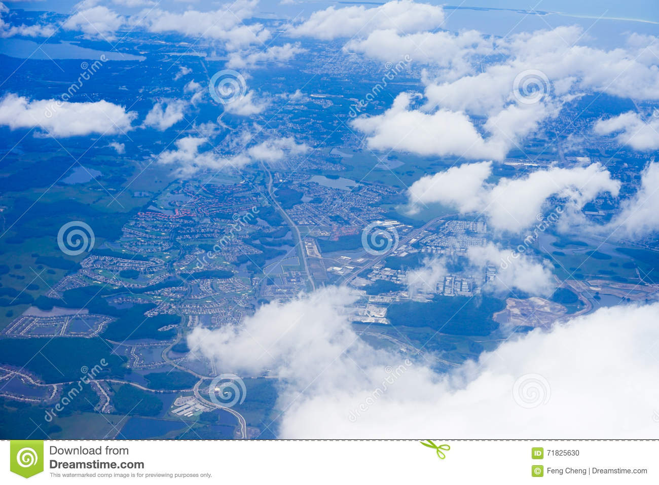 Aerial view of florida