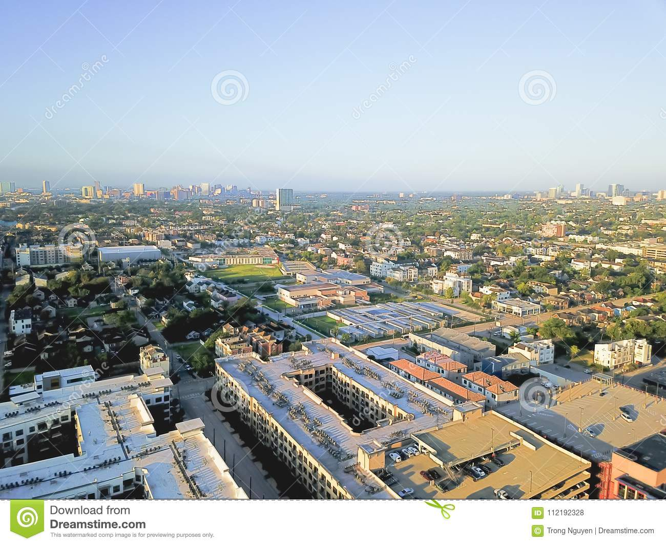 Aerial View Fourth Ward District West Of Downtown Houston