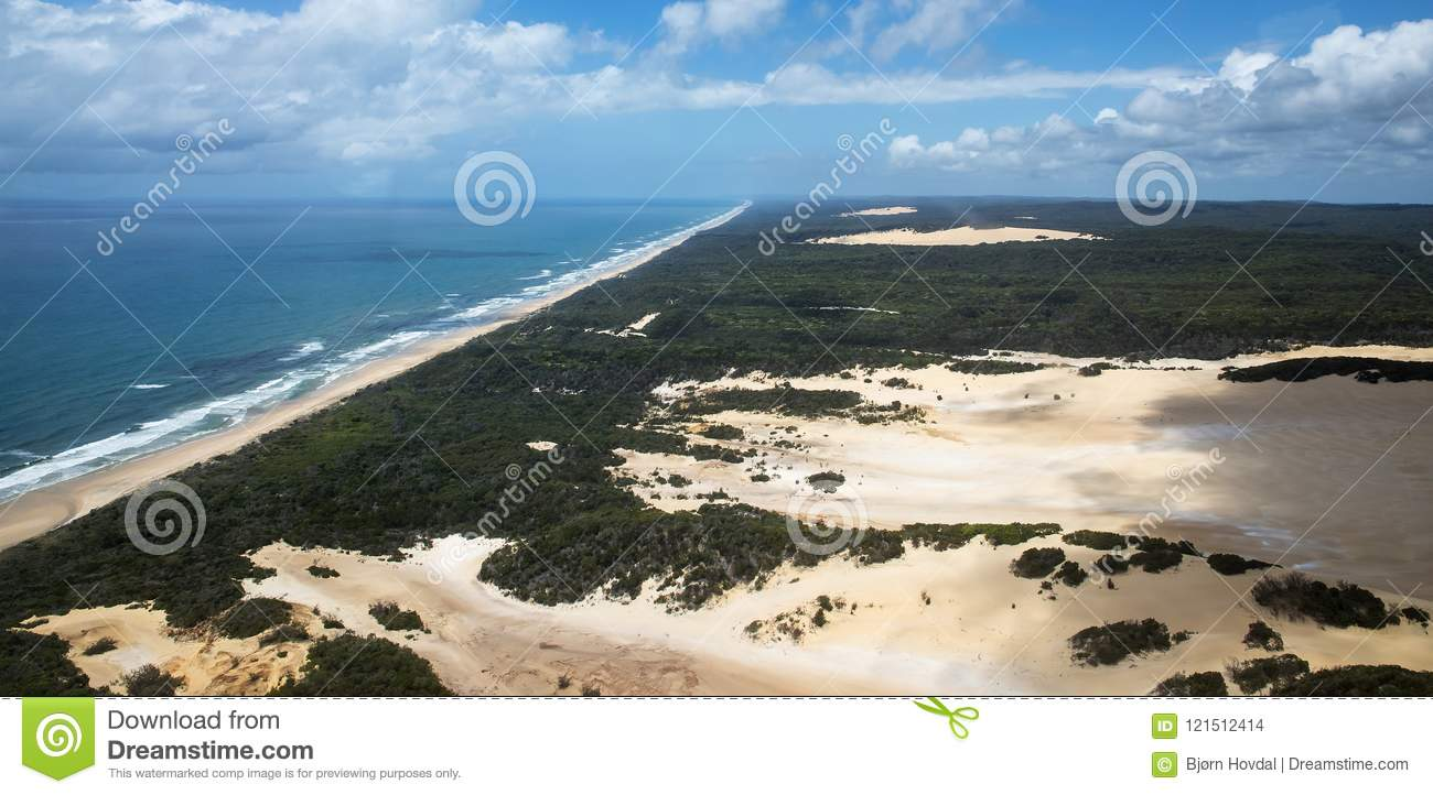 Download Aerial Photo Of Fraser Island. Stock Photo - Image of cars, taken: 121512414
