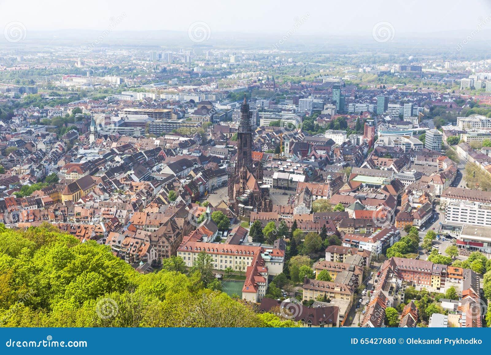 Aerial View Of Freiburg Im Breisgau Germany Stock Photo