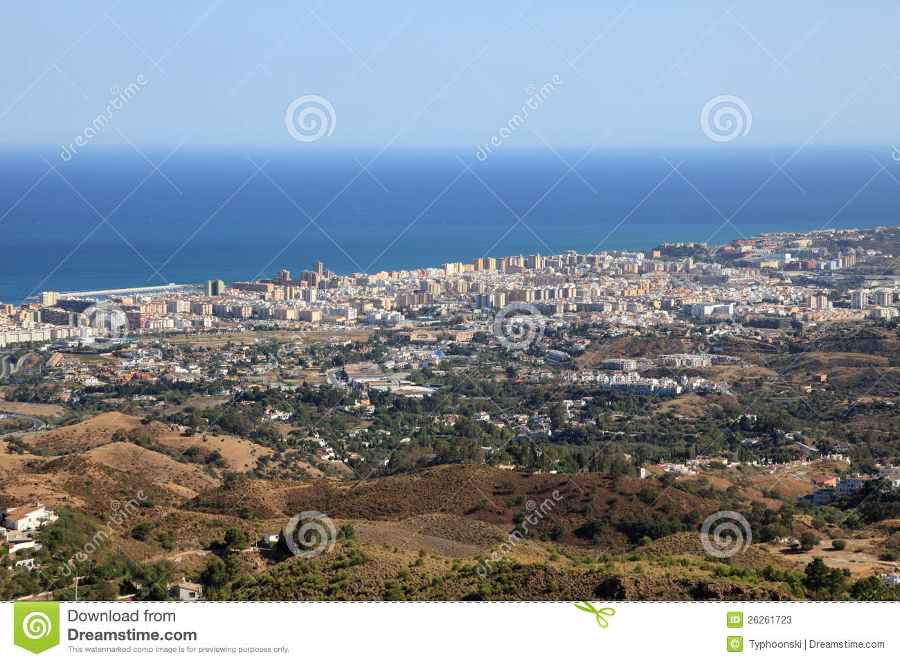 Fuengirola Spain  city photo : Aerial View Of Fuengirola, Spain Stock Photos Image: 26261723