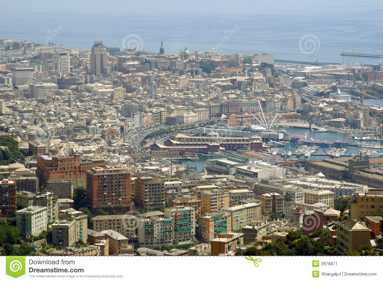 Outside house window - Aerial View Of Genoa Italy Stock Image Image 2978871
