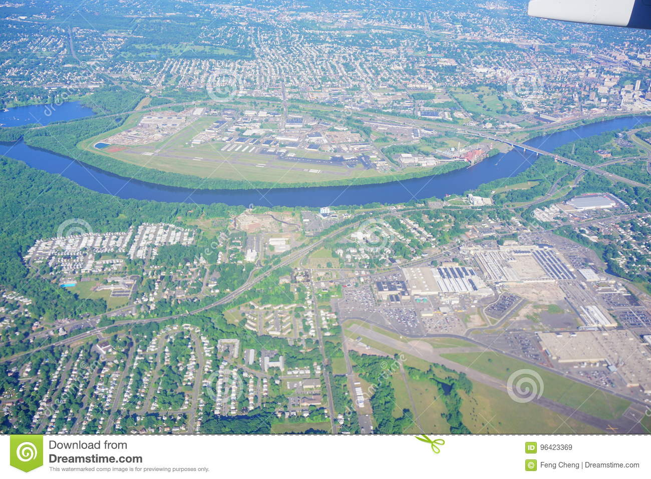 Aerial view of hartford city