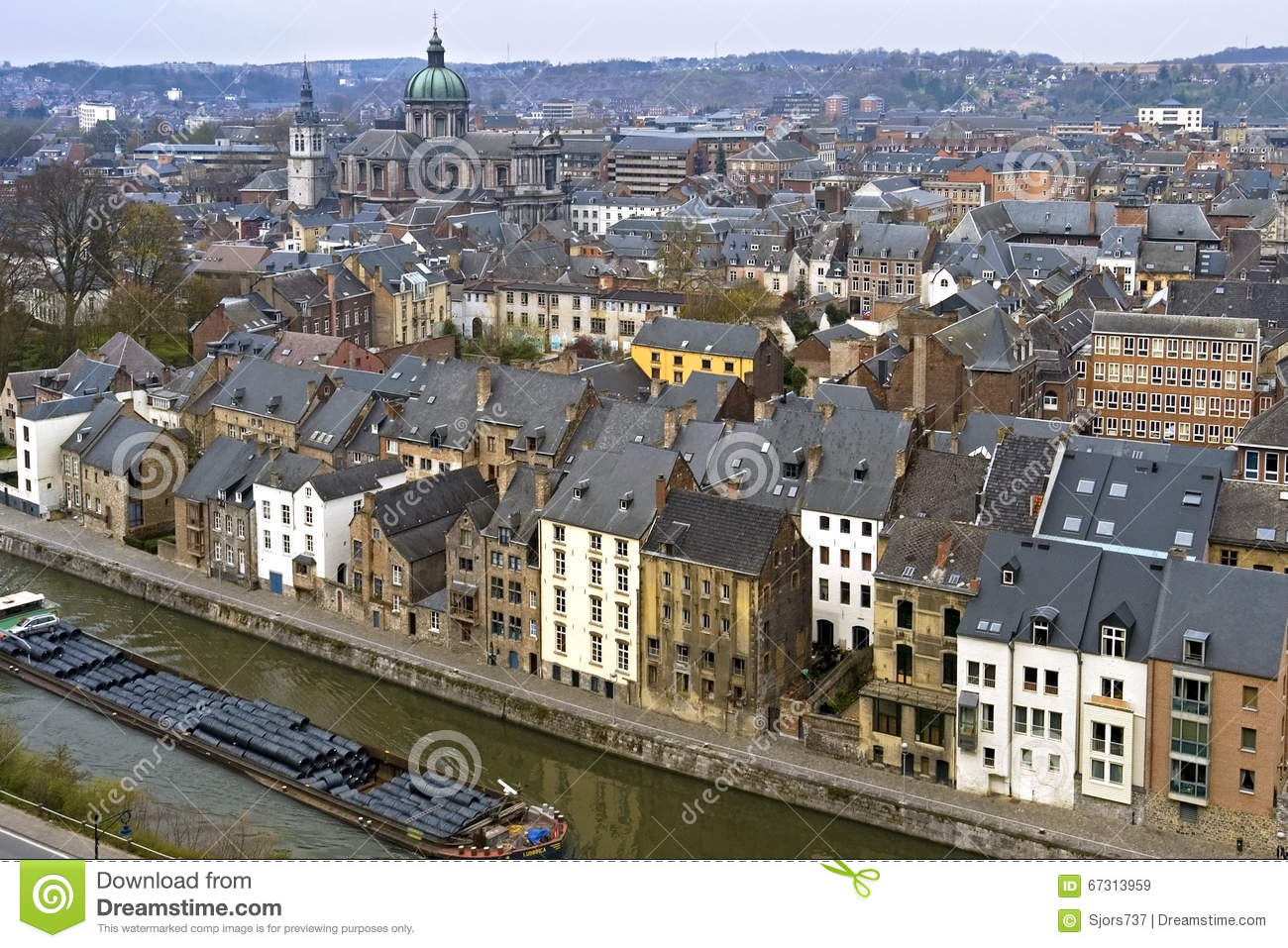 aerial view from the citadel of the city of namur