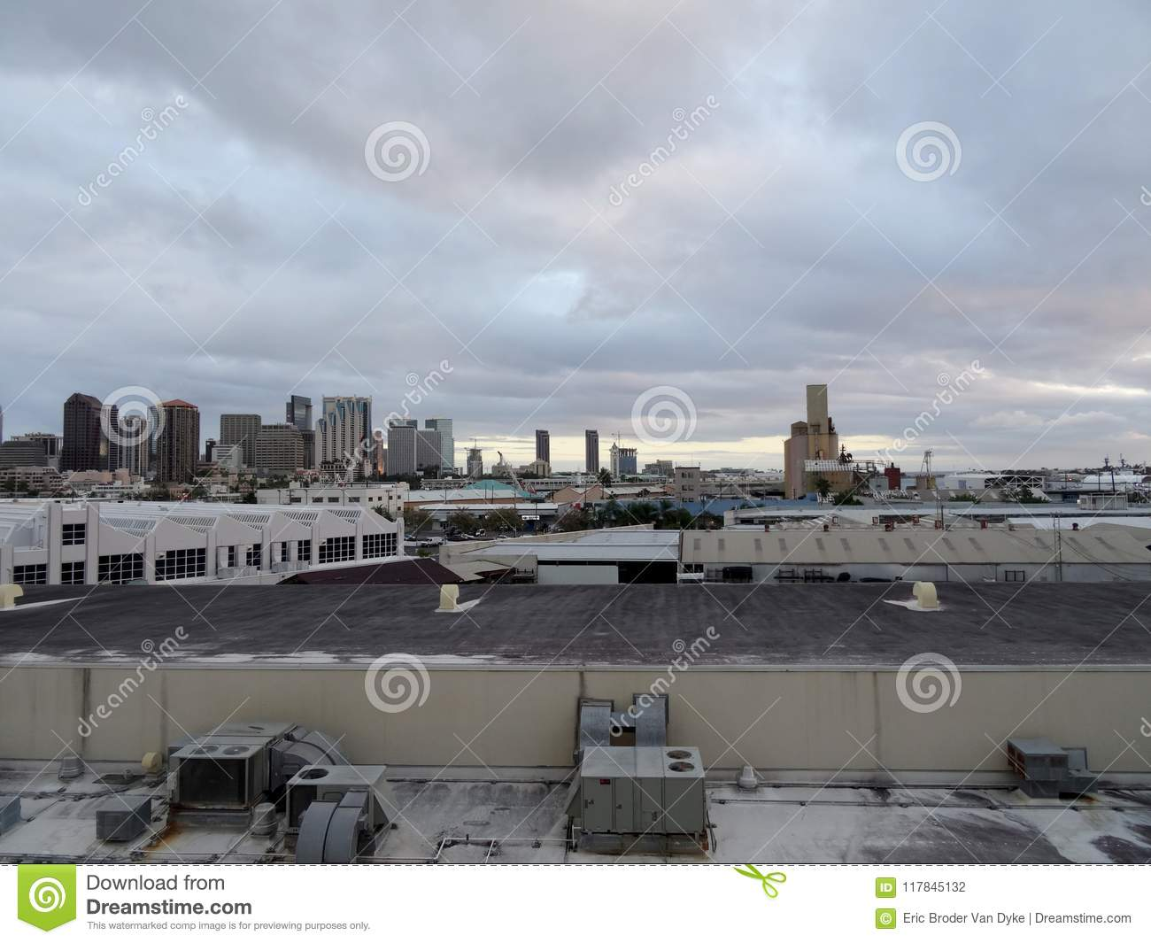 Port Of Honolulu >> Aerial View Of The Honolulu Port And Downtown Skyline Stock Photo