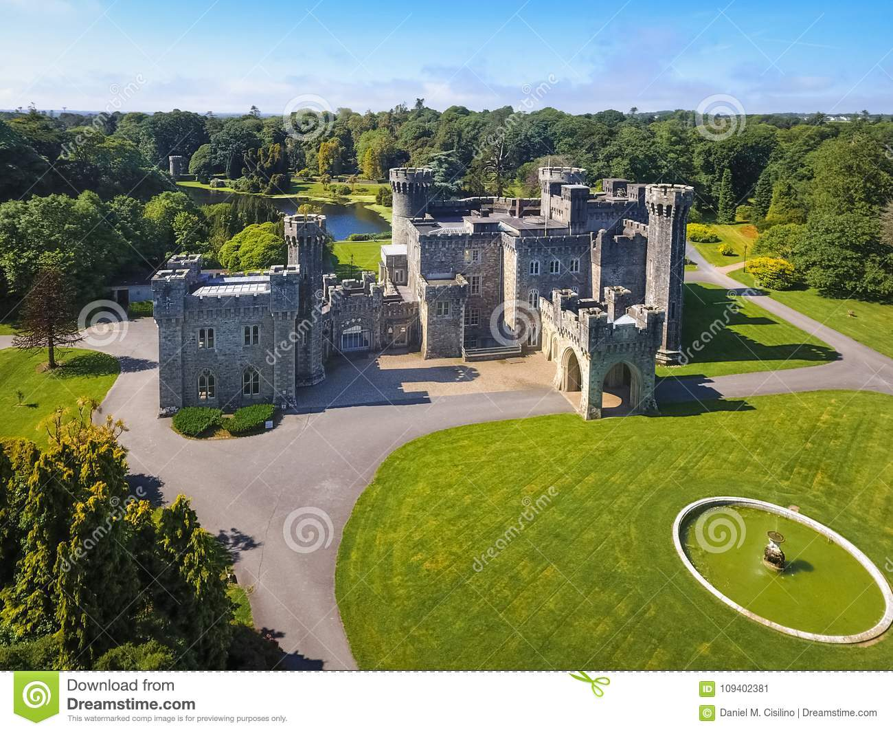 Aerial view. Johnstown Castle. county Wexford. Ireland.