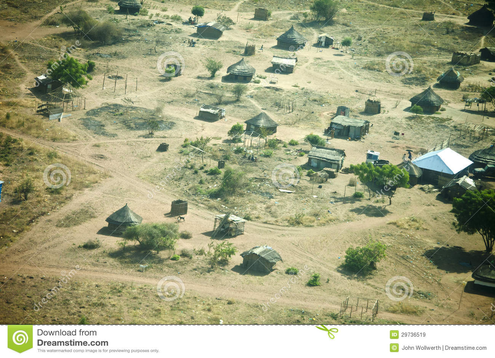 Aerial View Of Juba, South Sudan Stock Image - Image of tropical