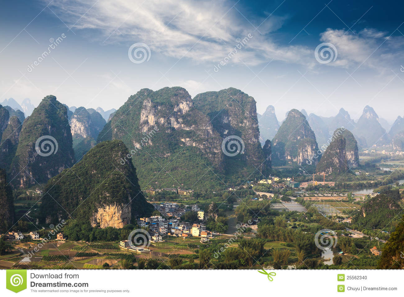 Aerial View Of Karst Mountain Landscape Stock Photo - Image: 25562340