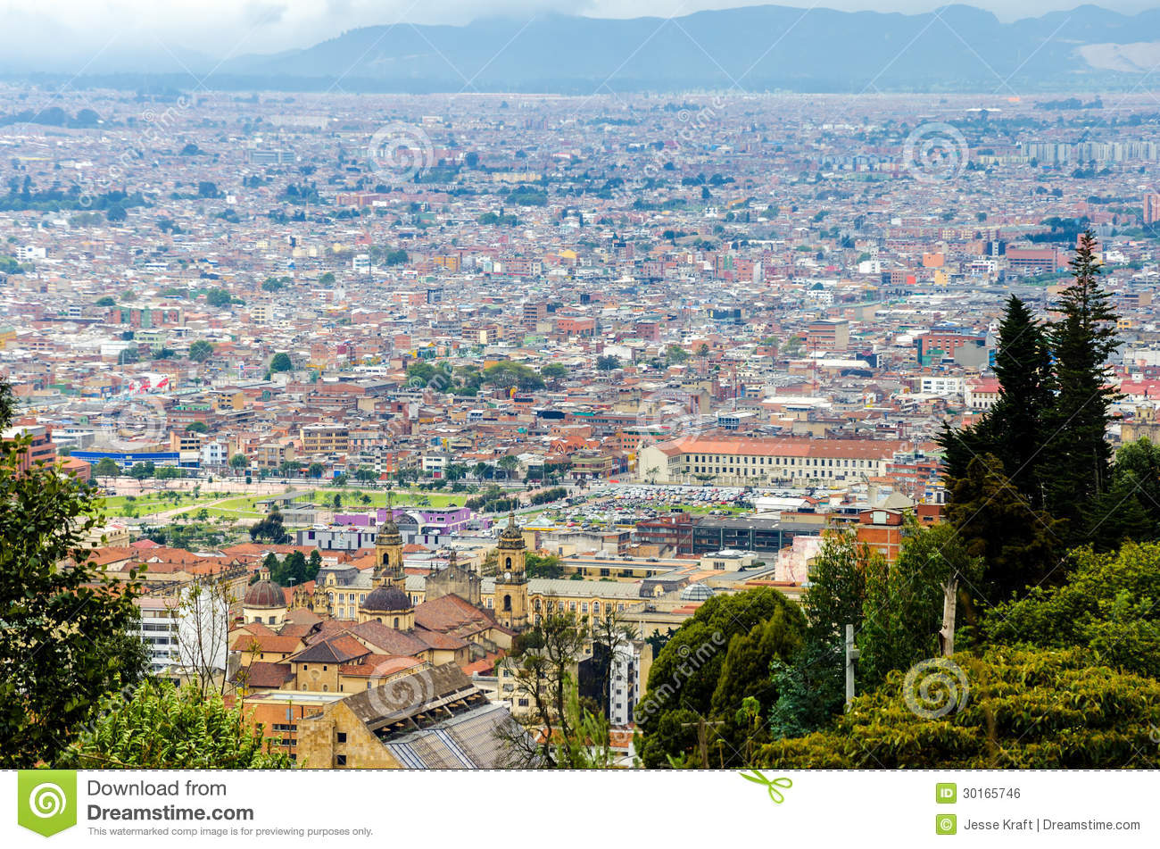 View of Bogota, Colombia Historic District