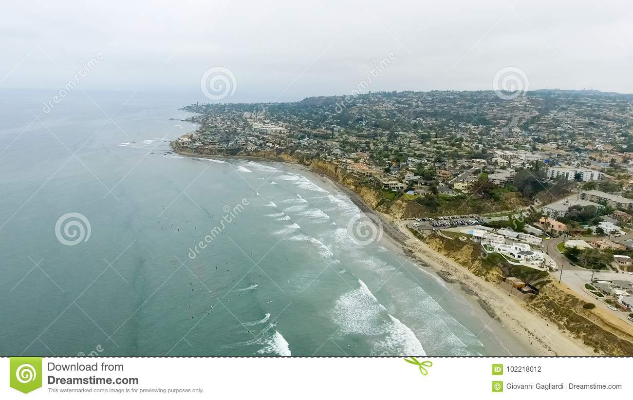 Aerial view of La Jolla Beach, California