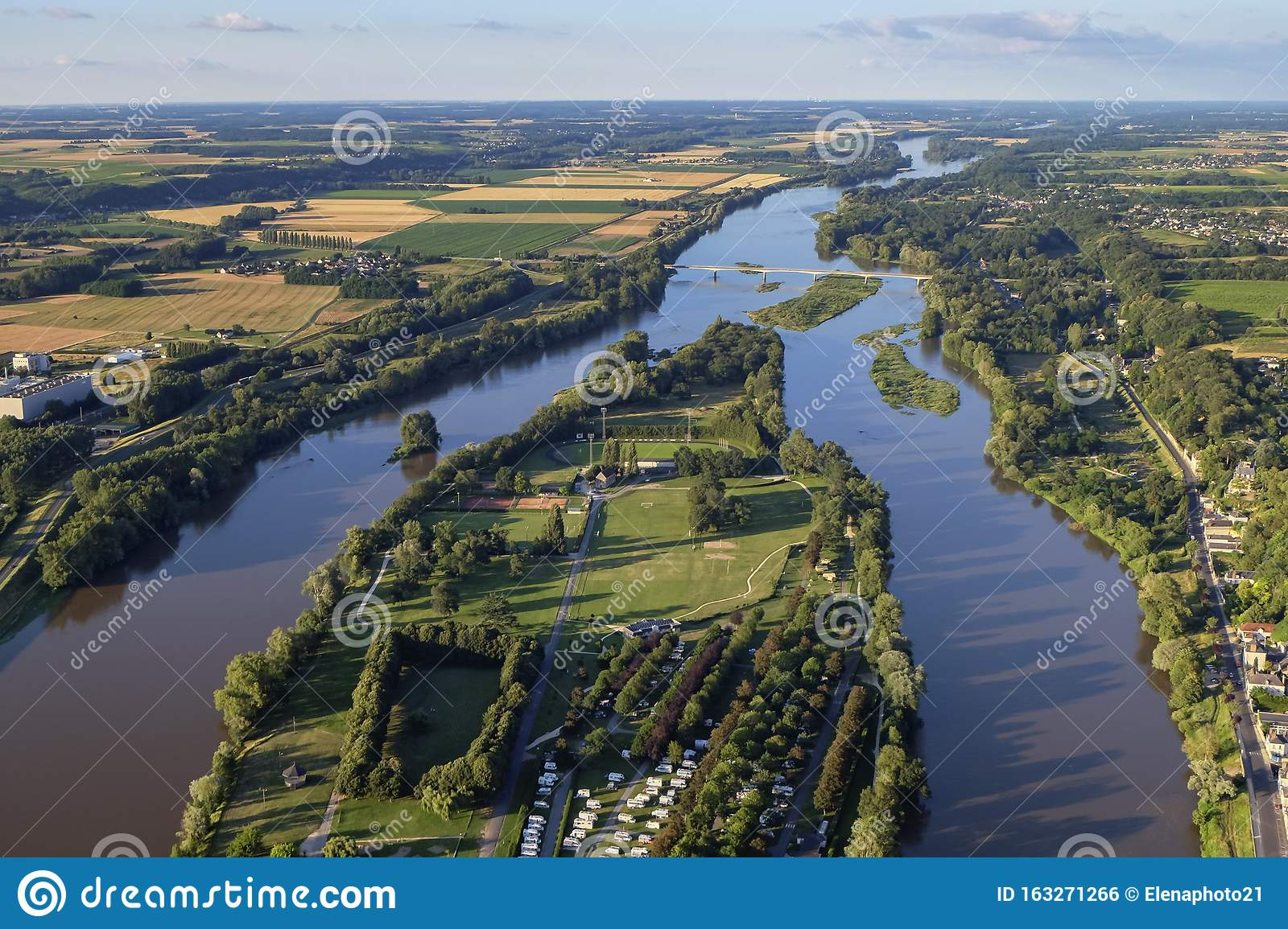 Aerial view of the Loire Valley, France