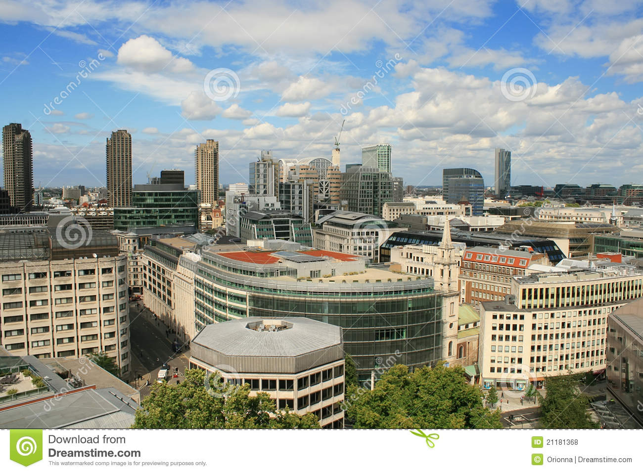 Aerial view of London from St. Paul s Cathedral