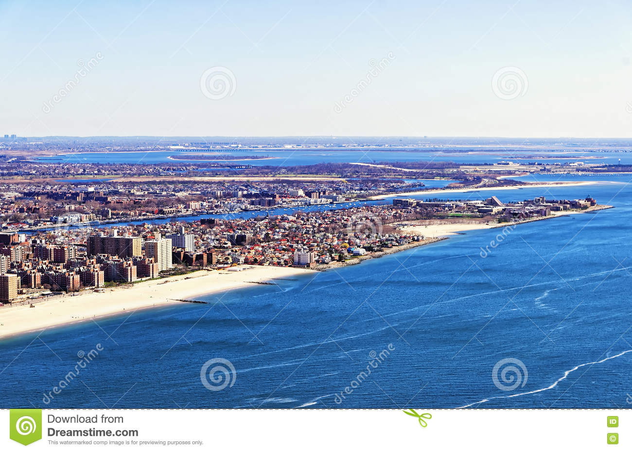 aerial view on long island in new york stock image image 70649647. Black Bedroom Furniture Sets. Home Design Ideas